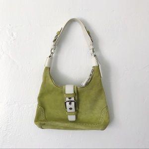 AUTHENTIC Coach suede mini shoulder bag